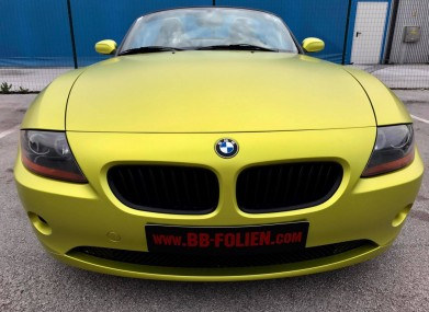 FolierungFoliranje-Wrapping BMW Z4 Kpl By BB-folien Bele Boštjan
