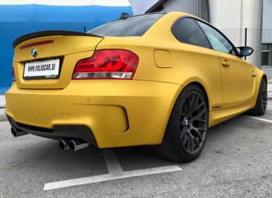 Folierung BMW 1M Coupe KPL by Foliocar Bele Boštjan