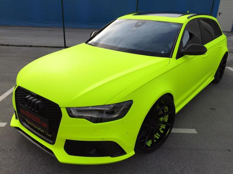 Fluorescent Yellow Auto Paint