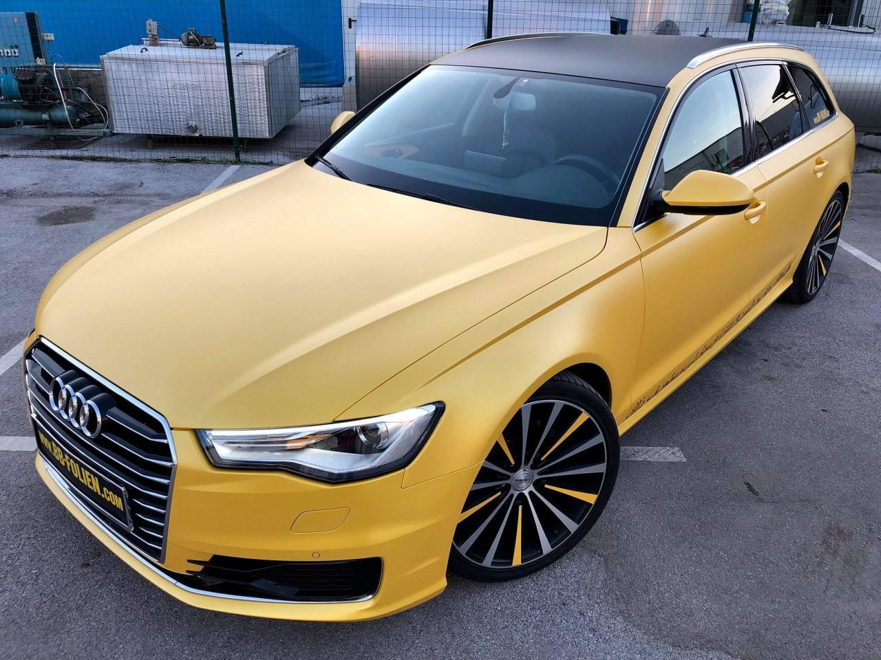 Folierung Audi A6 Kpl In Gelb X Platinum Matt Schwarz Matt By Bb Folie
