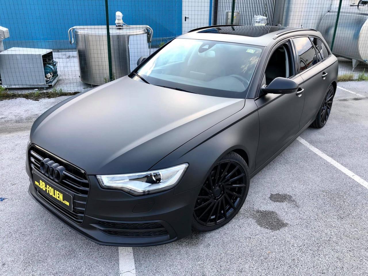 Folierung Audi A6 Kpl In Schwarz X Matt Chrom Teile Kpl In Schwarz G